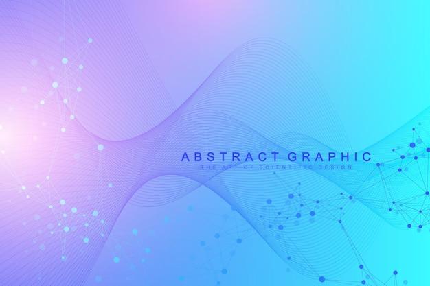 Wissenschaftliche vektorillustration gentechnik