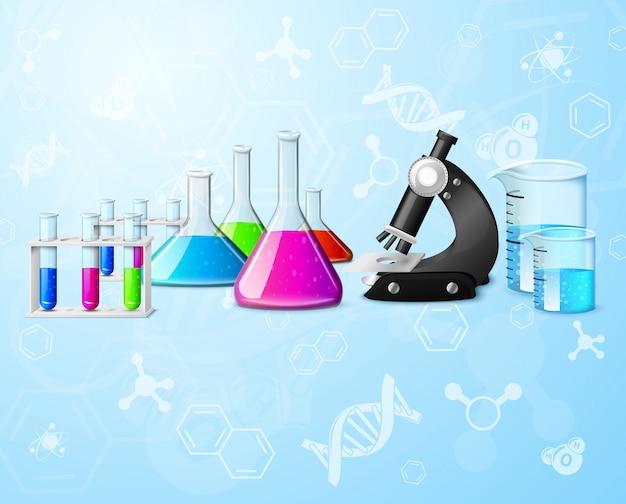 Wissenschaftlicher labor hintergrund