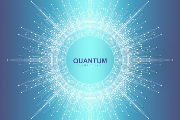 Wissenschaftlicher quantenexplosionseffekt