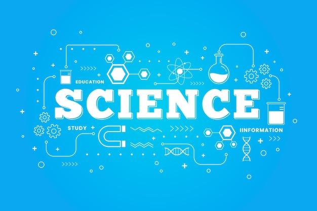 Wissenschaftliches wort illustriertes konzept