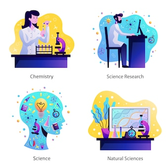 Wissenschafts-konzept-design