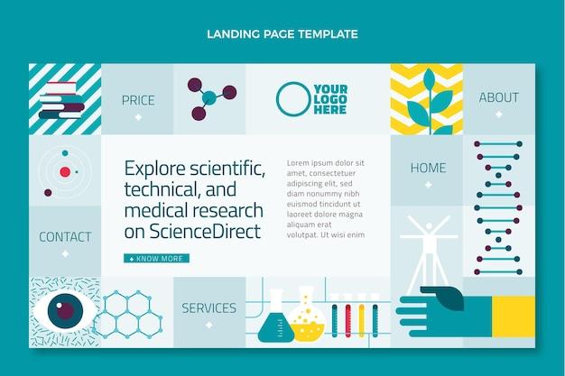 Wissenschafts-landingpage mit flachem design