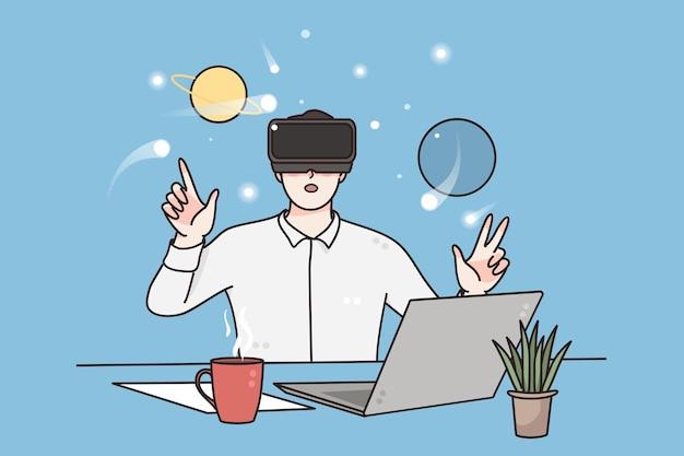 Wissenschafts- und technologiekonzept der virtuellen realität