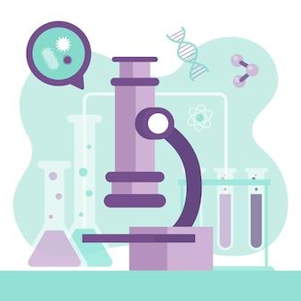 Wissenschaftskonzept mit mikroskop