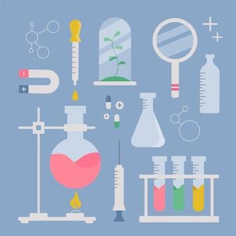 Wissenschaftslaborobjekte gesetzt