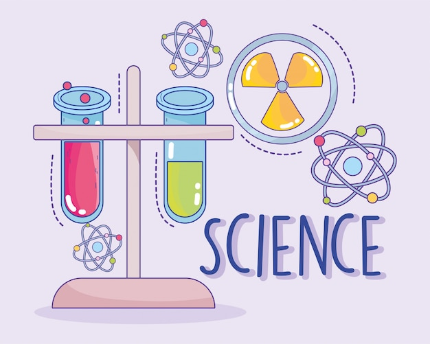 Wissenschaftsmedizin kernchemie flocken und atomforschungslabor
