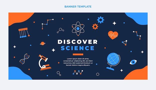 Wissenschaftsverkaufsfahne im flachen design