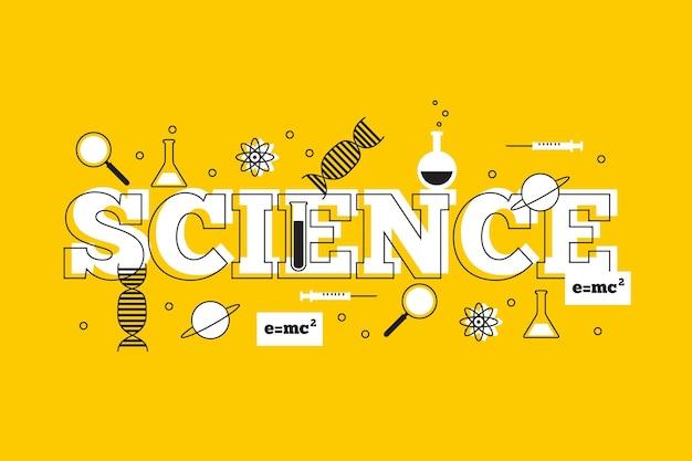 Wissenschaftswort mit dna und molekülen