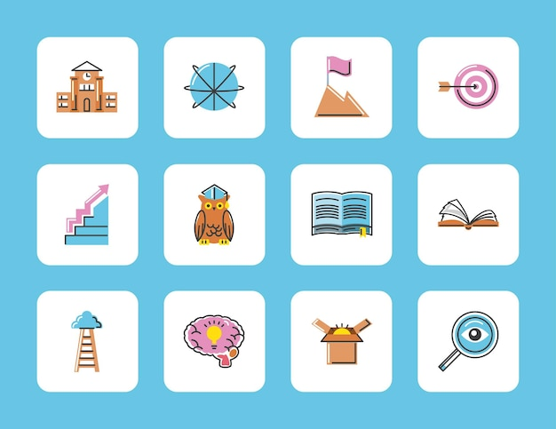 Wissenserfolg-icon-set