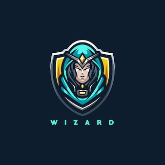 Wizard lady sport logo design