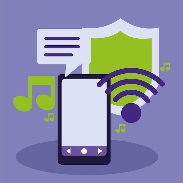 Wlan-musik vom smartphone