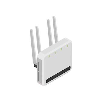 Wlan-router auf weiß Premium Vektoren