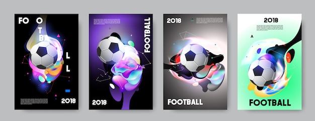 Wm-cup-hintergrundfußball des fußballs 2018.