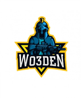 Wo3den sports logo