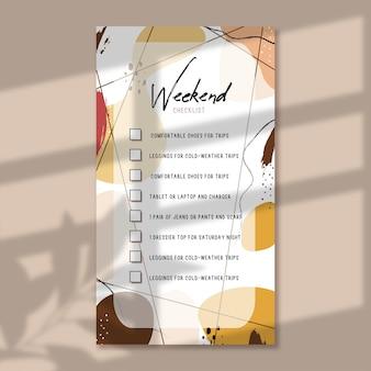 Wochenend-checkliste, checkliste für reiseverpackungen, checkliste für geschäftsreisen, kdp interior