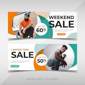 Wochenendverkauf banner vorlage