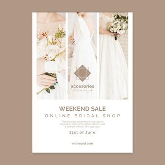 Wochenendverkauf online-shopping-poster