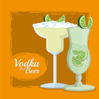 Wodka martinis cocktails tassen