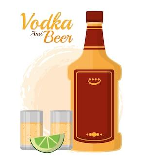 Wodka und bier bar getränke
