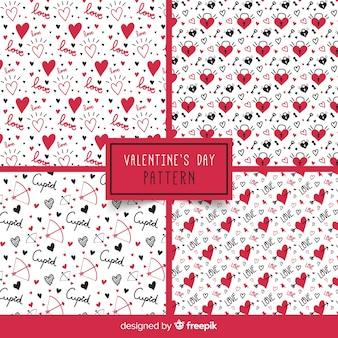 Wörter und herz valentinstag muster