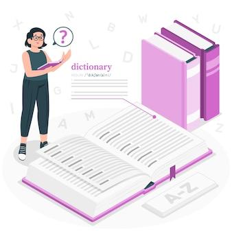Wörterbuchkonzeptillustration