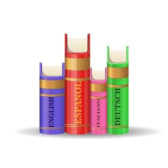 Wörterbücher verschiedener sprachen