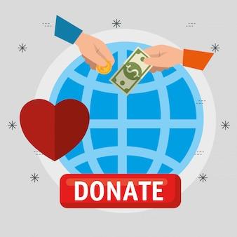 Wohltätige spende