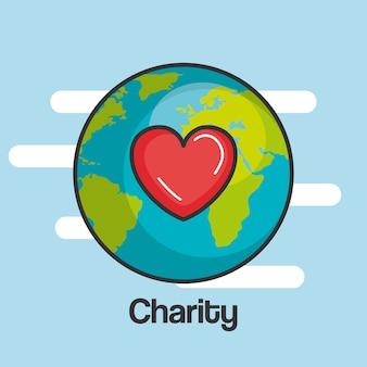 Wohltätigkeit und spende geben und teilen sie ihre liebe
