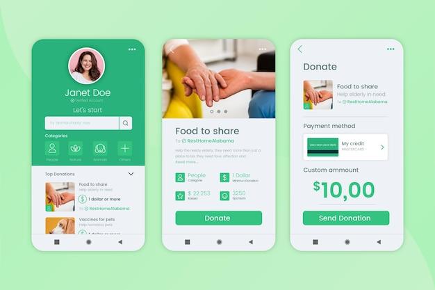 Wohltätigkeits-app