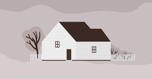 Wohnhaus oder cottage skandinavischer architektur