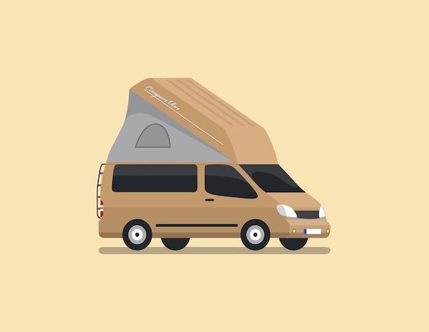 Wohnmobil van flat vector