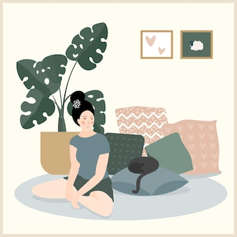 Wohnraum. gemütliches zuhause komfortable dekorelemente