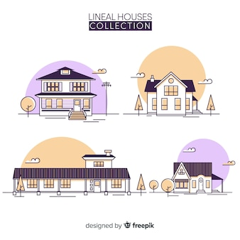 Wohnsammlung im linearen stil