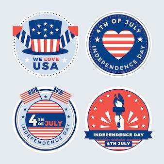 Wohnung 4. juli - unabhängigkeitstag etikettenkollektion