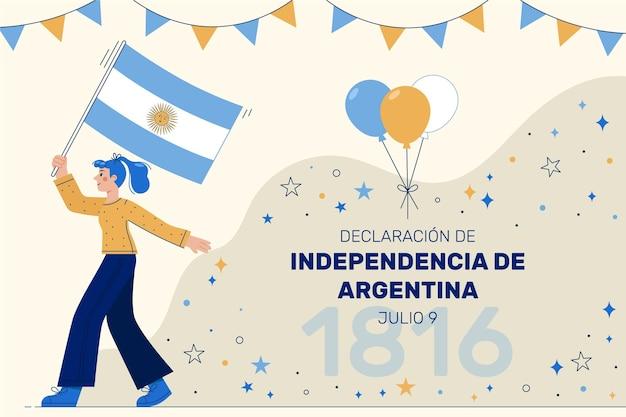 Wohnung 9 de julio - erklärung der unabhängigkeit der argentinischen illustration Kostenlosen Vektoren