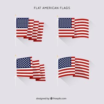 Wohnung amerikanischen flaggen sammlung