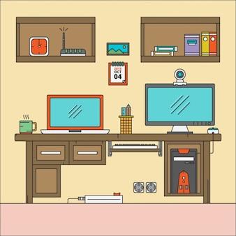 Wohnung desktop-arbeitsplatz