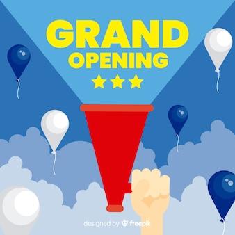 Wohnung grand opening konzept