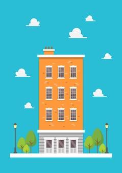 Wohnung im flachen design. vektor-illustration