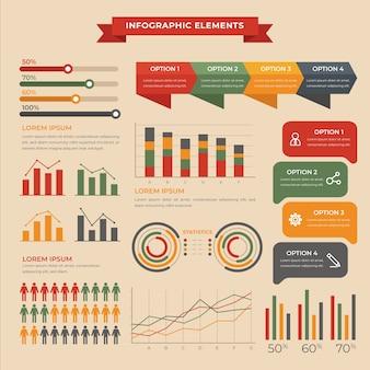 Wohnung infografik mit retro-farben