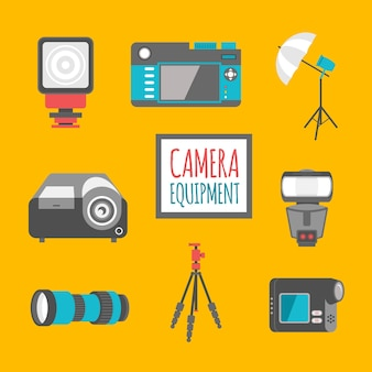 Wohnung kameraausrüstung pack