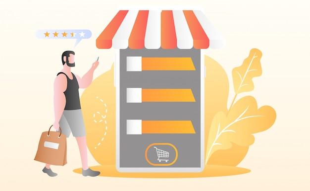 Wohnung online-shopping-illustration