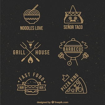 Wohnung restaurant logo collection