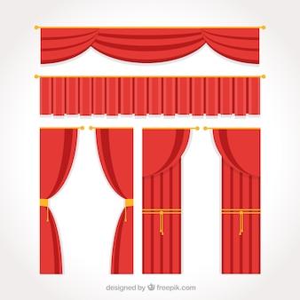 Wohnung theatervorhang pack