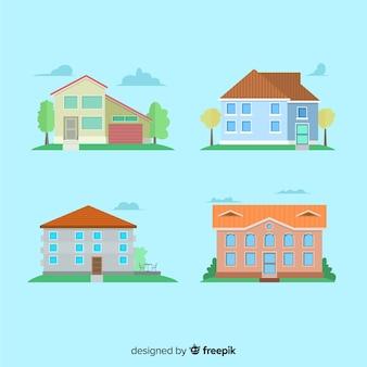 Wohnungssammlung im flachen stil