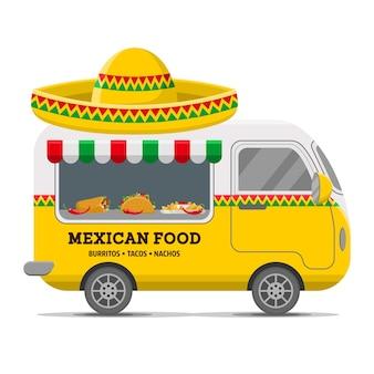 Wohnwagenanhänger mit mexikanischem essen