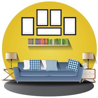 Wohnzimmer höhe mit hintergrund