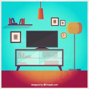 Wohnzimmer-illustration