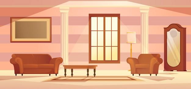 Wohnzimmer innen vektor-illustration