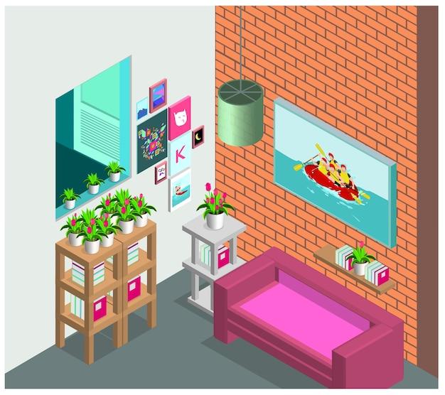 Wohnzimmer innenraum skandinavischen stil